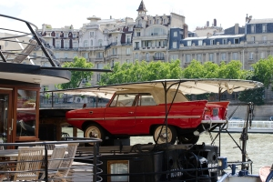 Classic Car on Houseboat